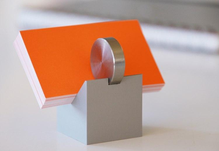 Visitenkartenhalter Natur Aluminium Edelstahl